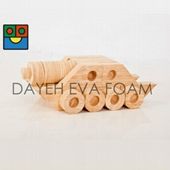 Joint Wood-like EVA Foam Building Blocks ,118 piece