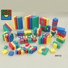 Creative Colorful EVA Foam Building Blocks, 4cm, 152piece