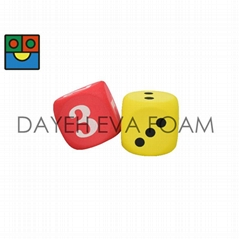 Curved EVA Foam  Dice - 7 cm , Number 1-6