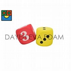 EVA 泡绵圆角骰子-7 cm , 点数1-6