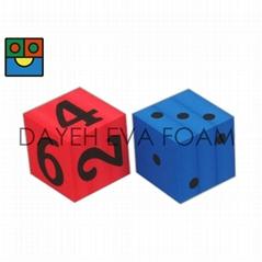 EVA 泡綿骰子組-12 cm  點數/數字, Set of 2