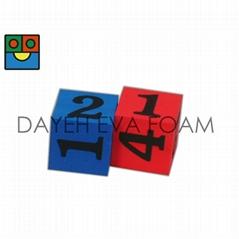 EVA 泡綿骰子-8 cm , 數字1-6