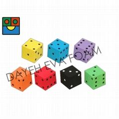 Colorful EVA Foam  Dice- 5 cm , Dots 1-6