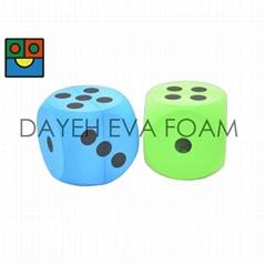 EVA 泡綿圓骰子- 10 cm , 點數1-6, Set of 2