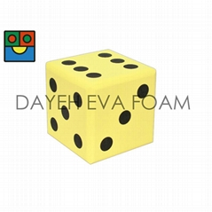 Jumbo EVA Foam Dice- 20 cm , Dots 1-6, Yellow