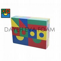 Textured Colorful EVA Foam Block, 40pcs