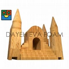 Creative Wood-like Castle EVA Foam Building blocks 46 pcs