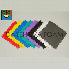 "Plain Colorful EVA Foam Floor mat ,24"" x 24"" , Non-smell, Odor-less"