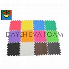 "Plain Colorful  EVA Foam Floor Mat, 12"" x12"", 15 mm"