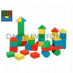 Giant Neon EVA Foam Building Block, 12cm, 36piece