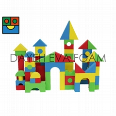 Creative Colorful EVA Foam Building Block, 4cm, 72 piece