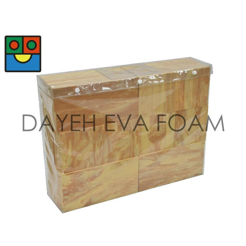 B6740W Wood-like building block 40pcs.