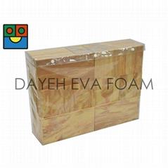 Jumbo Wood-like EVA Foam Building blocks ,40pcs