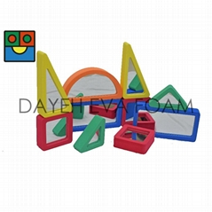 EVA Foam Colorful Mirrored block-10pcs
