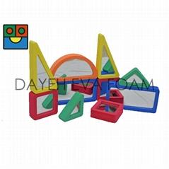 EVA Foam Colorful Mirrored block-10pcs