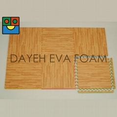 EVA TWO-WAY Wood-like foam Mats 2'x2',20mm