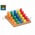 EVA Foam Cylinder Sorting Play board, 25