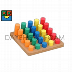 EVA Foam Cylinder Sorting Play board, 25 piece