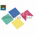 Tangram,EVA Foam, 20cmx 20cm, 4 colour,