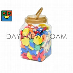 FOAM PATTERN BLOCKS ,250pcs ,A set in JAR