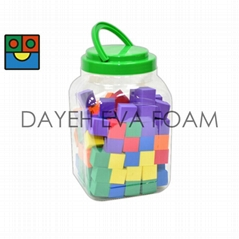 Foam COLOR CUBE,120pcs.,A set in JAR
