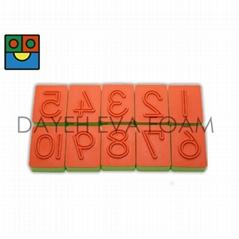 EVA Rubber stamp, Number