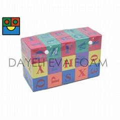 EVA Foam Alphabet & Numbers Blocks, Formamide-free, Set of 30