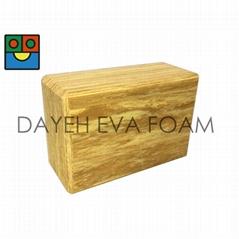 EVA Exercise Fitness Wood-like  Yoga Bricks ,4x6x9inch