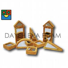 EVA 泡绵木纹镜子积木组 10 PCS
