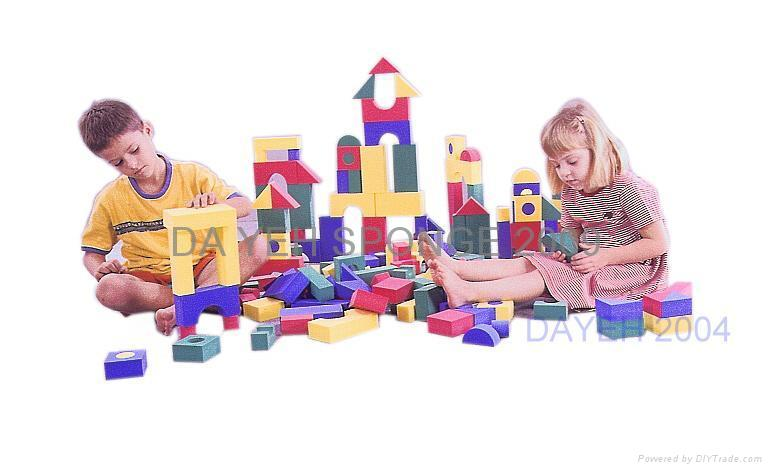 Creative Colorful EVA Foam Building Blocks, 4cm, 152piece 2