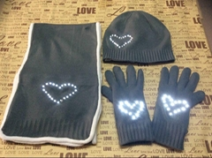 offer light up hat scarf gloves with LEDs