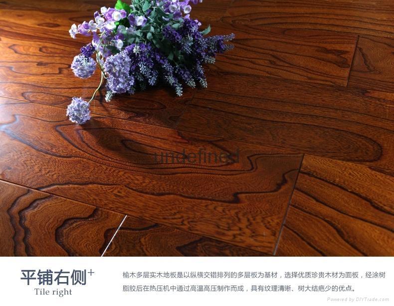 The supply of elm wood composite floor 1