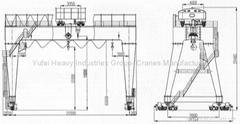 MH type 20T Electric Hoist Gantry Crane