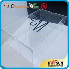 High quality hupbox clear acrylic shoebox