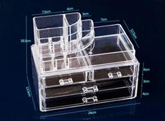 acrylic cosmetic makeup organizer box
