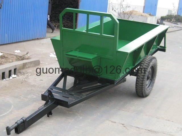 walking tractor, mini four wheel tractor 2 ton farm trailer 4