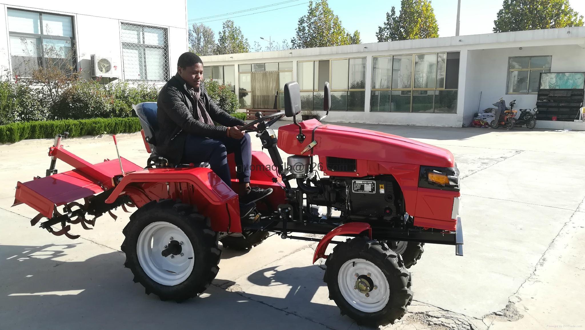 农用小型四轮拖拉机配旋耕机 1