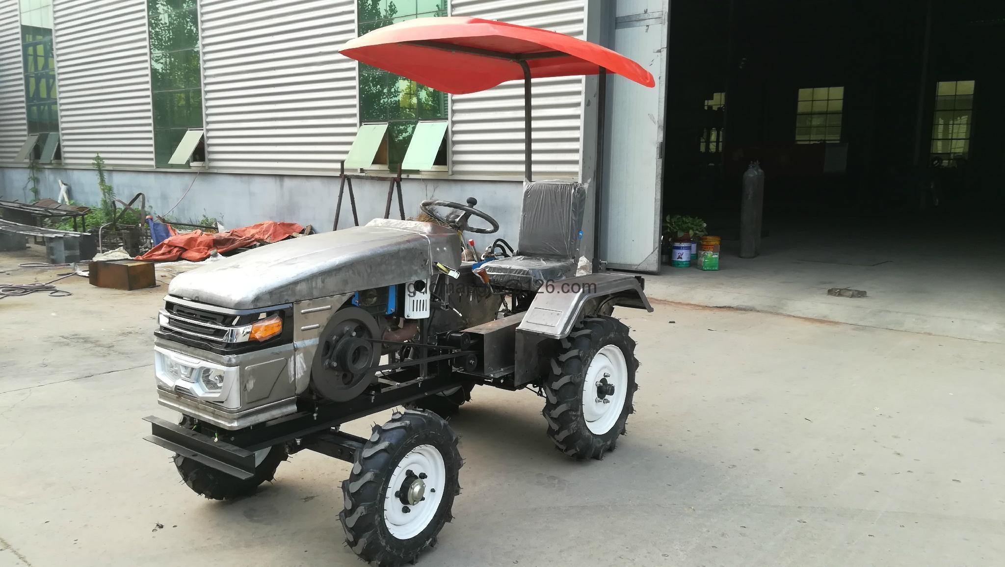 Ukraine and Russia market mini four wheel tractor,12/15hp 1
