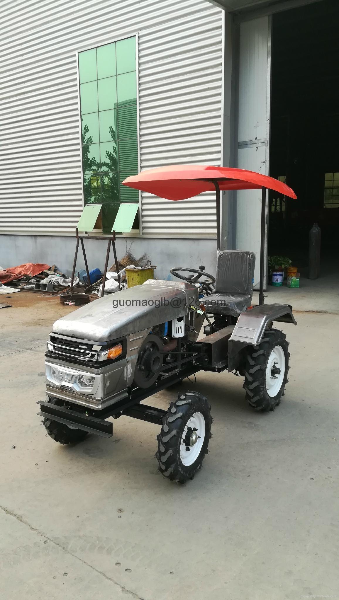 Ukraine and Russia market mini four wheel tractor,12/15hp 4