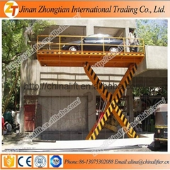 Hydraulic car elevator scissor car lift used for garage