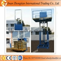 Indoor outdoor used stationary guide rail lift elevator table