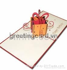 Birthday gift 3D popup greeting card