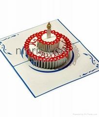 Birthday cake 3D popup greeting card