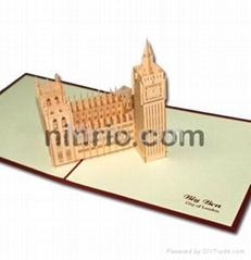 London Bigben 3D popup greeting card