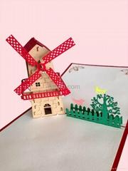 Dutch Windmills 3D popup greeting card