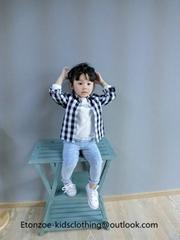 Etonzoe Kids Cotton Shirt Children Comfortable Shirt Kids Clothes