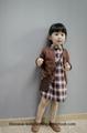 Etonzoe Girls Plaid Skirt Dress Lattice