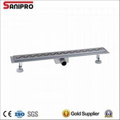 Smart stainless steel shower linear floor electro polish drain