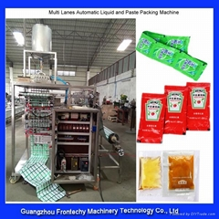 High speed multi lanes automatic tomato paste packing machine