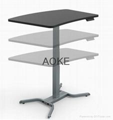 student study height adjustable desk